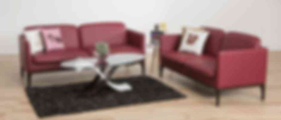 Clement 3 Seater Matte Finish Leatherette Sofa