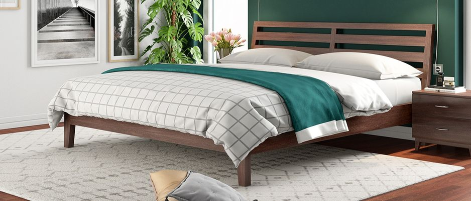 Fern Premium Solid wood Queen Size Bed