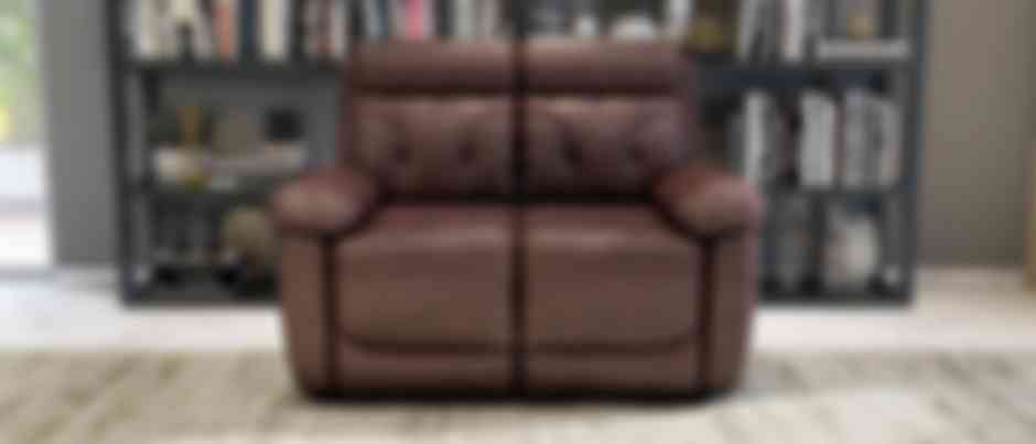 Dream 2 seater chocolate brown colour recliner chair side view with footrest extender