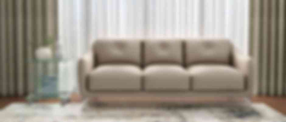 Skyler 6 Seater Brown Leather Sofa enhance the beauty of living room