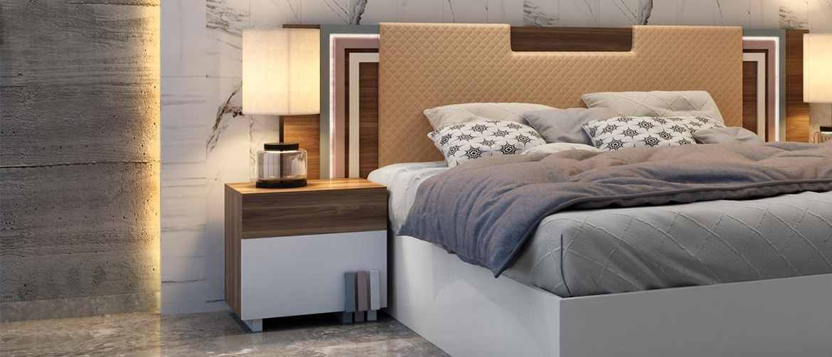 Nicholas Bed Side Table and Night stand Table with Drawers enhances the beauty of the room