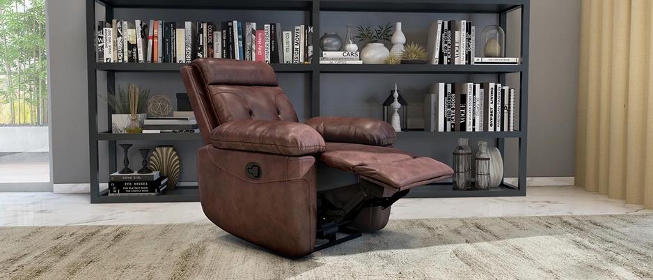 Super comfy and a contemporary elegant design Durian Nappa Aire Manual Recliner