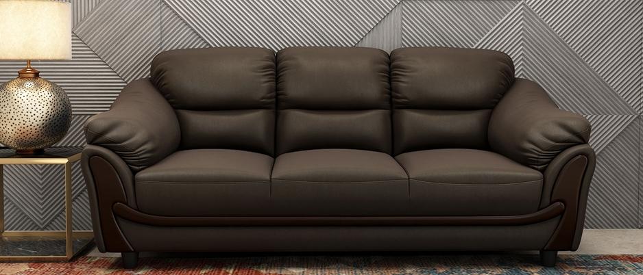 Lakewood Premium Red Burgundy leatherette 3 seater sofa