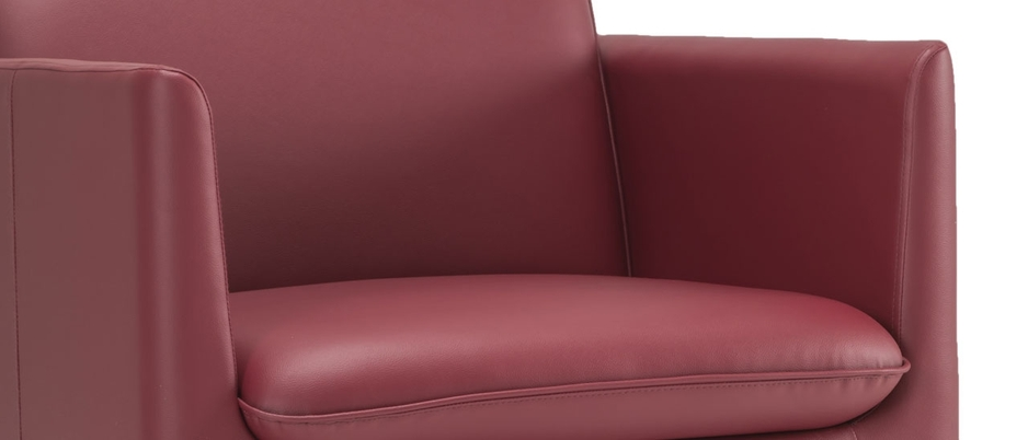 1 Seater Clement Red Leatherette Sofa Set