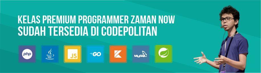 Programmer Zaman Now