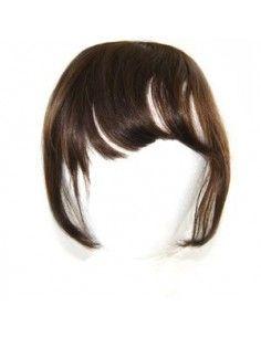 Frange à Clips Cheveux Naturels Brun