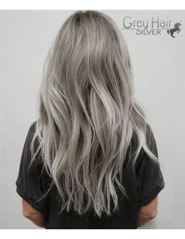 Extension Adhesive Grade Aaaaa Cheveux Naturels Gris Silver