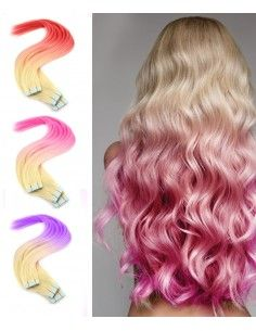 Tape Extensions OMbré Hair Crazy Color