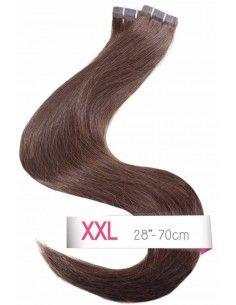 tape hair extensions marron brun foncé
