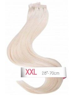 Blond Platine tape hair extensions