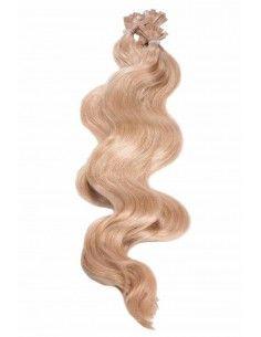 Wellige Haarverlängerung Bonding Karamellblond