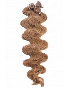 Wellige Haarverlangerüng Haselnussbraun