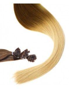 Extensions à Chaud Ombré Hair châtain