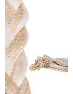 extensions à chaud méchée Blond Clair Cendré