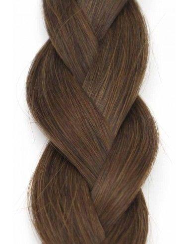 Extension Cheveux à Chaud  Marron Glacé 4 , Pose d\u0027extension Kératine