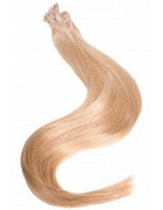 Echthaarsträhnen Loops Haarverlängerung Karamellblond