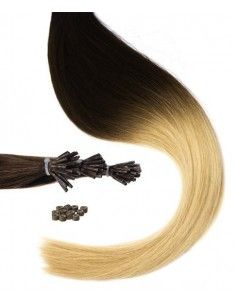 Mèches Naturelles tie and dye brune extensions 50cm