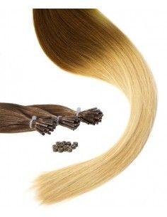 Ombré hair Tie and Dye Châtain Cheveux Naturels