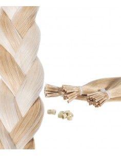 extensions à Froid méchées Blond Clair Cendré