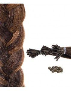 50 extensions brun acajou