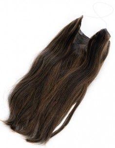 Halo Hair Dunkles Kupferbraun