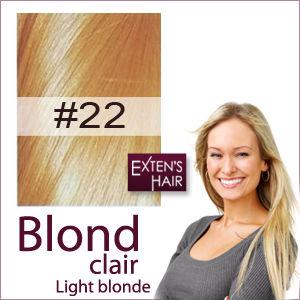 extensions de cheveux blond clair