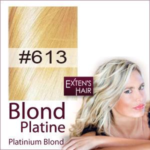 Extensions de cheveux blond platine