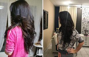 avant apres extensions cheveux