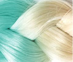 extension cheveux turquoise