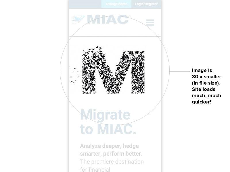 Mobile optimised image