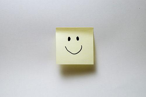 Smile postit