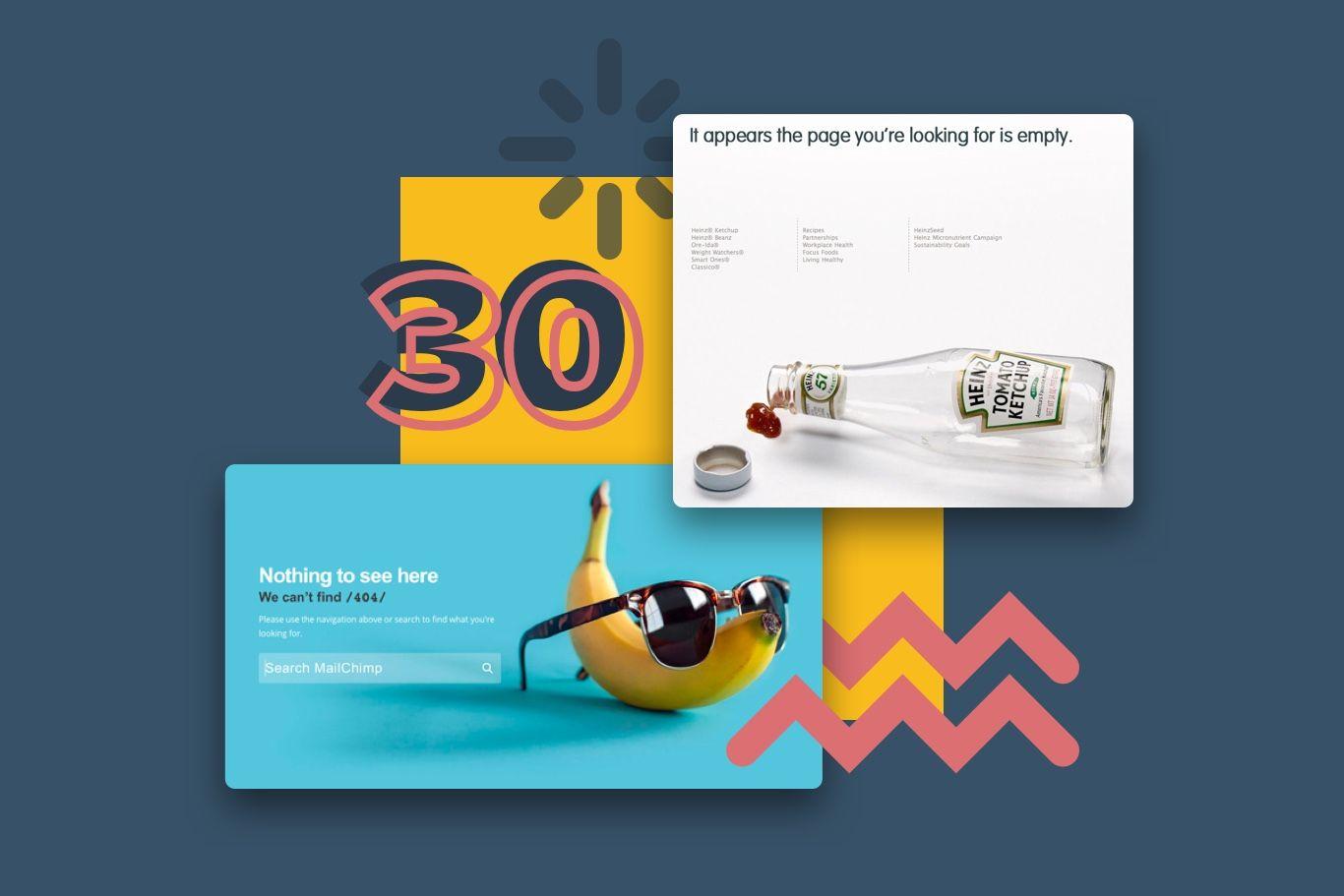 30 creative website error pages