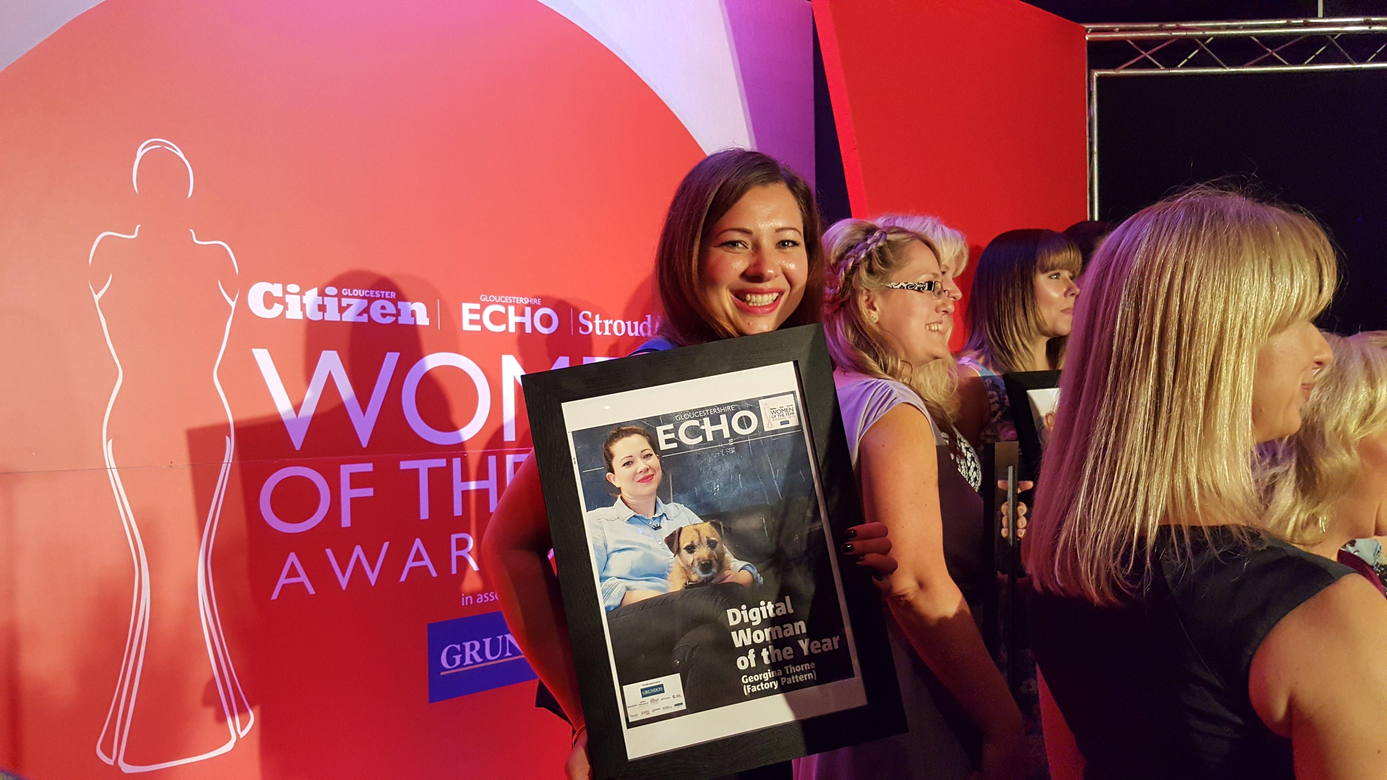 Georgina Thorne, Factory Pattern - Winning her Award