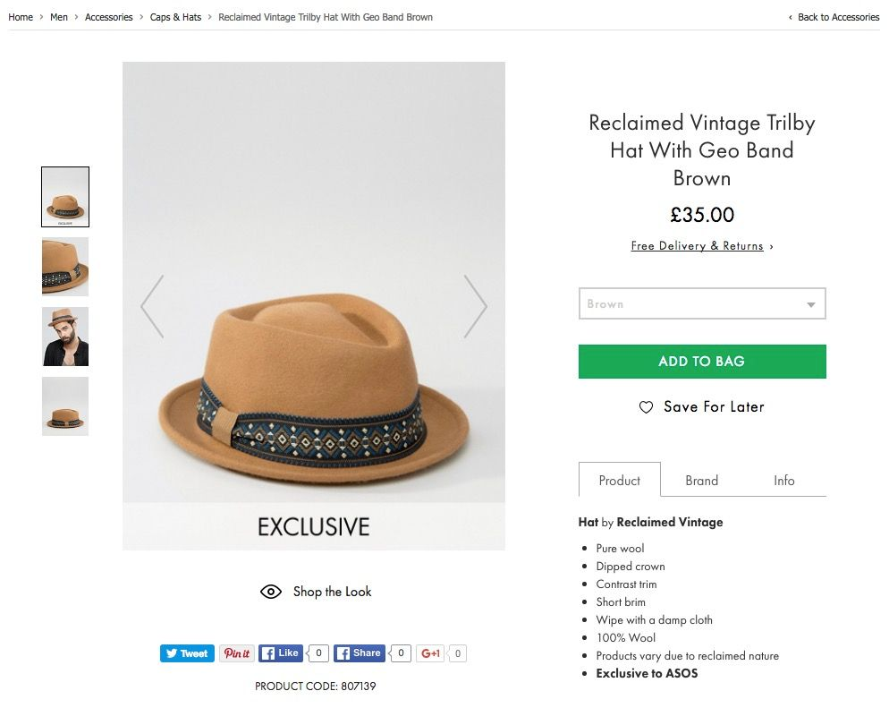 ASOS Product Page Design