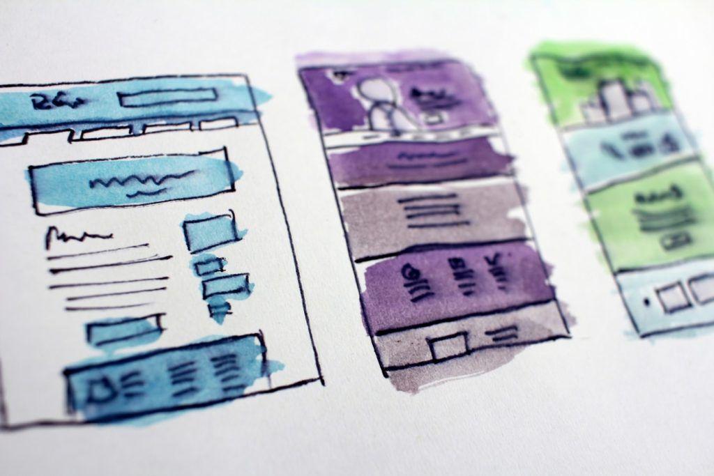 Sketch of a bespoke WordPress website