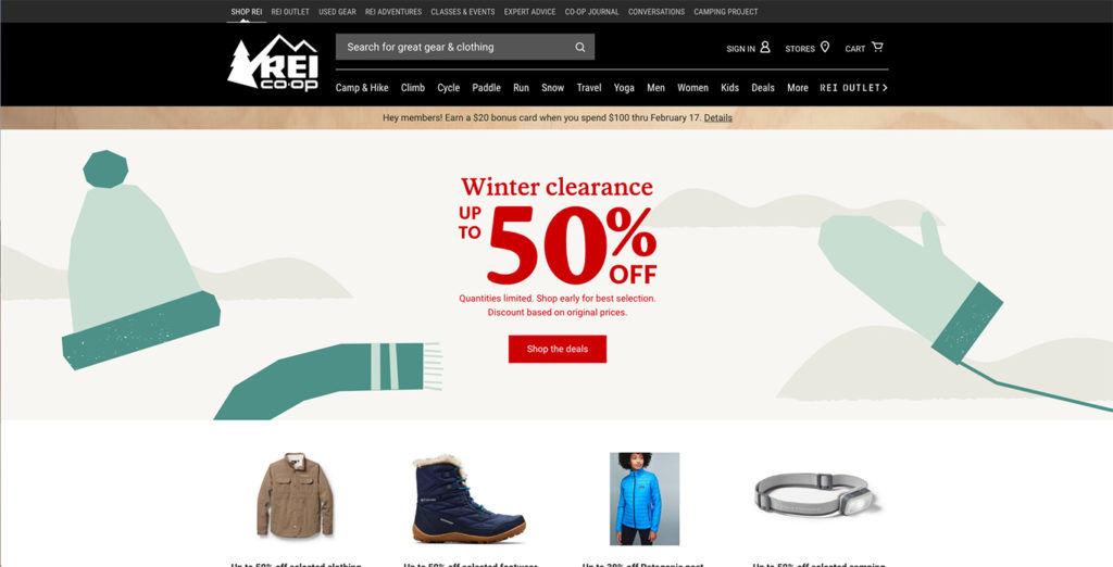 REI Homepage
