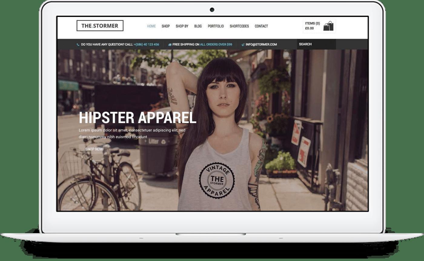 Shopify Ecommerce website desktop