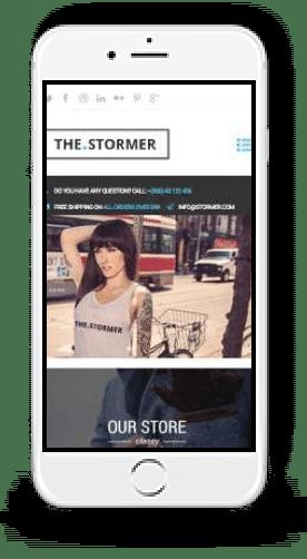 Shopify Ecommerce website mobile