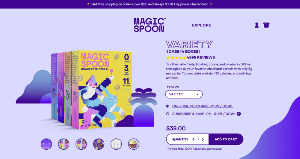 Magic Spoon ecommerce