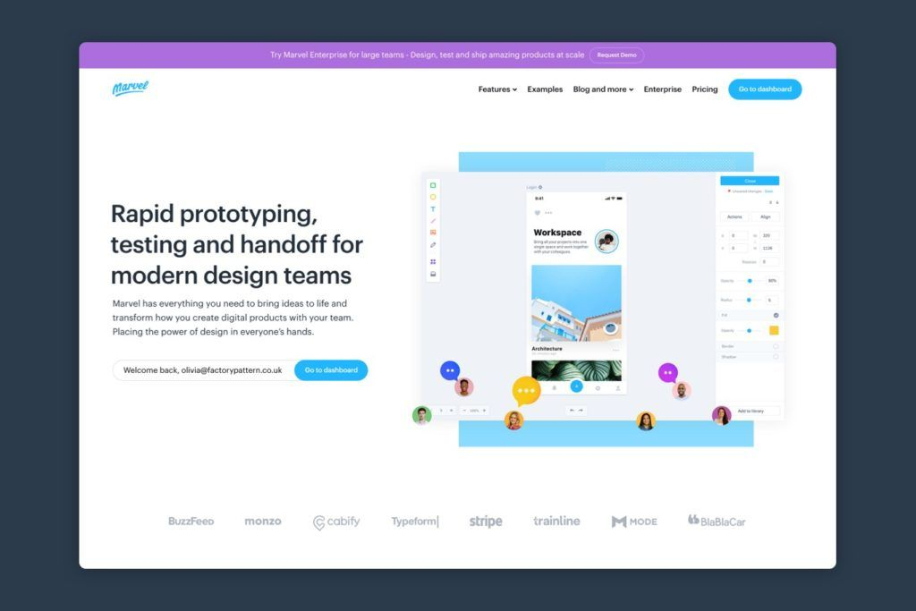 Marvel is a web design tool for prototyping