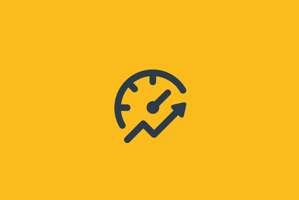 Illustration of a speedometer increasing