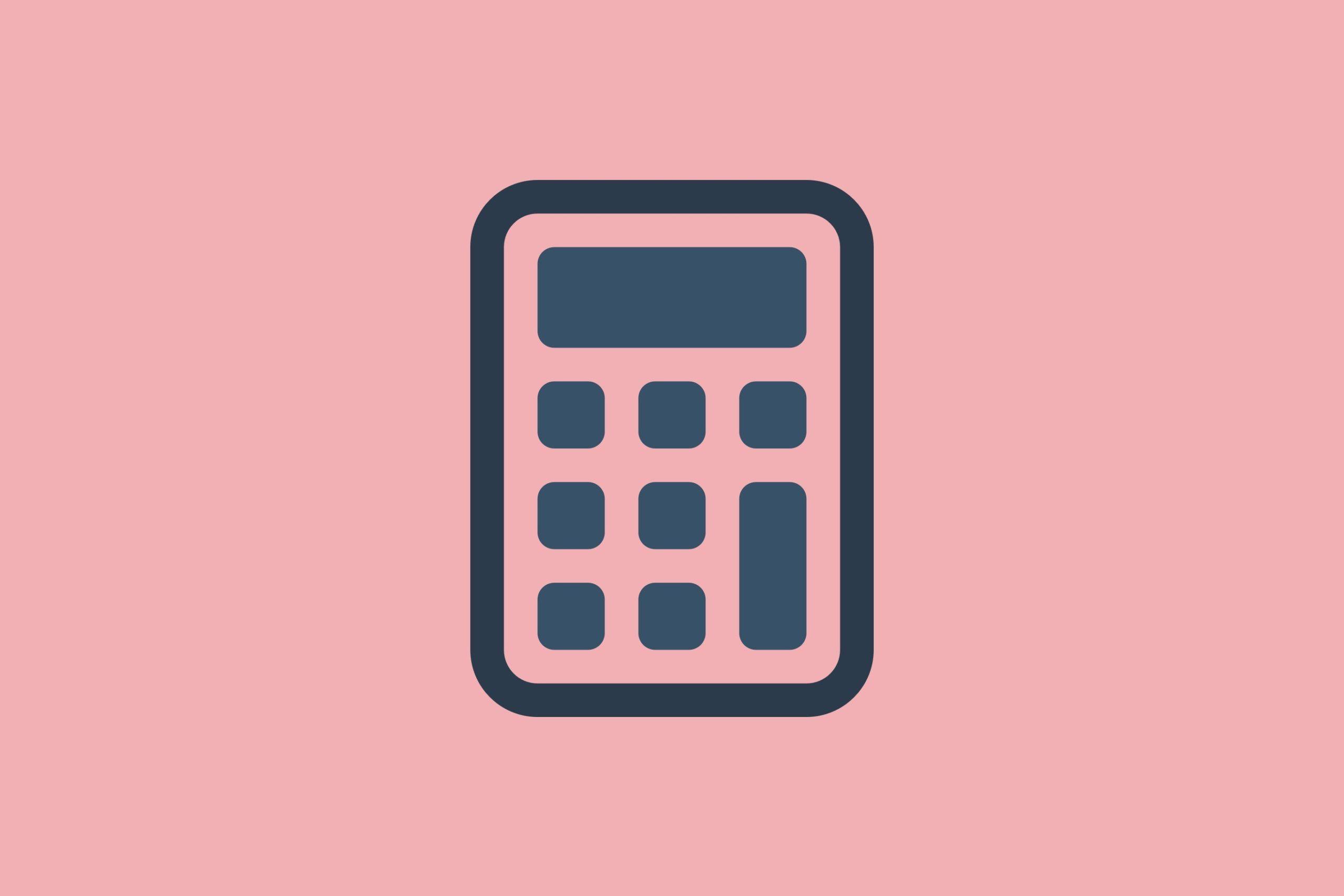 illustration of a calculator