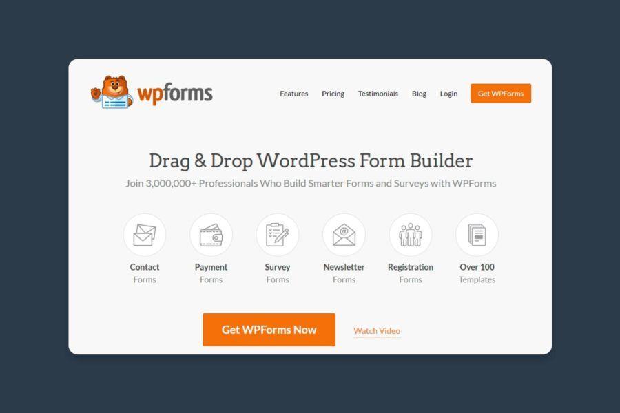 screenshot of WPForms WordPress plugin page