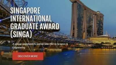 Меѓународна додипломска награда (SINGA) во Сингапур, 2018