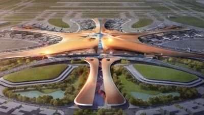Кина го изградила најголемиот аеродром на светот: Морската ѕвезда се простира на површина за 100 фудбалски игралишта, четири писти се подготвени за пробни летови