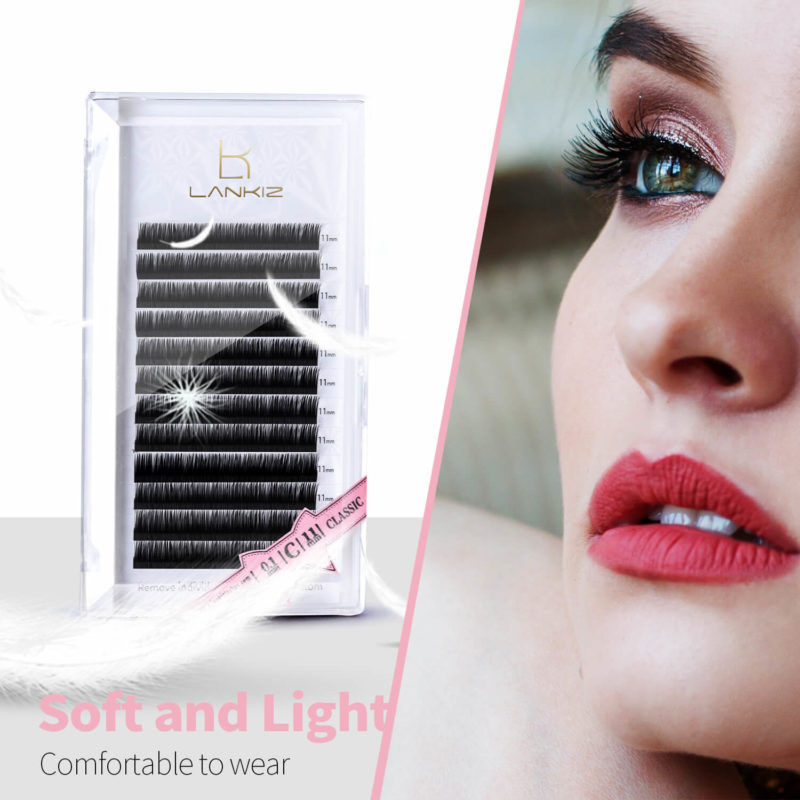 Lankiz D Curl 0 15 Mix Single Flat Faux Mink Eyelash Extensions