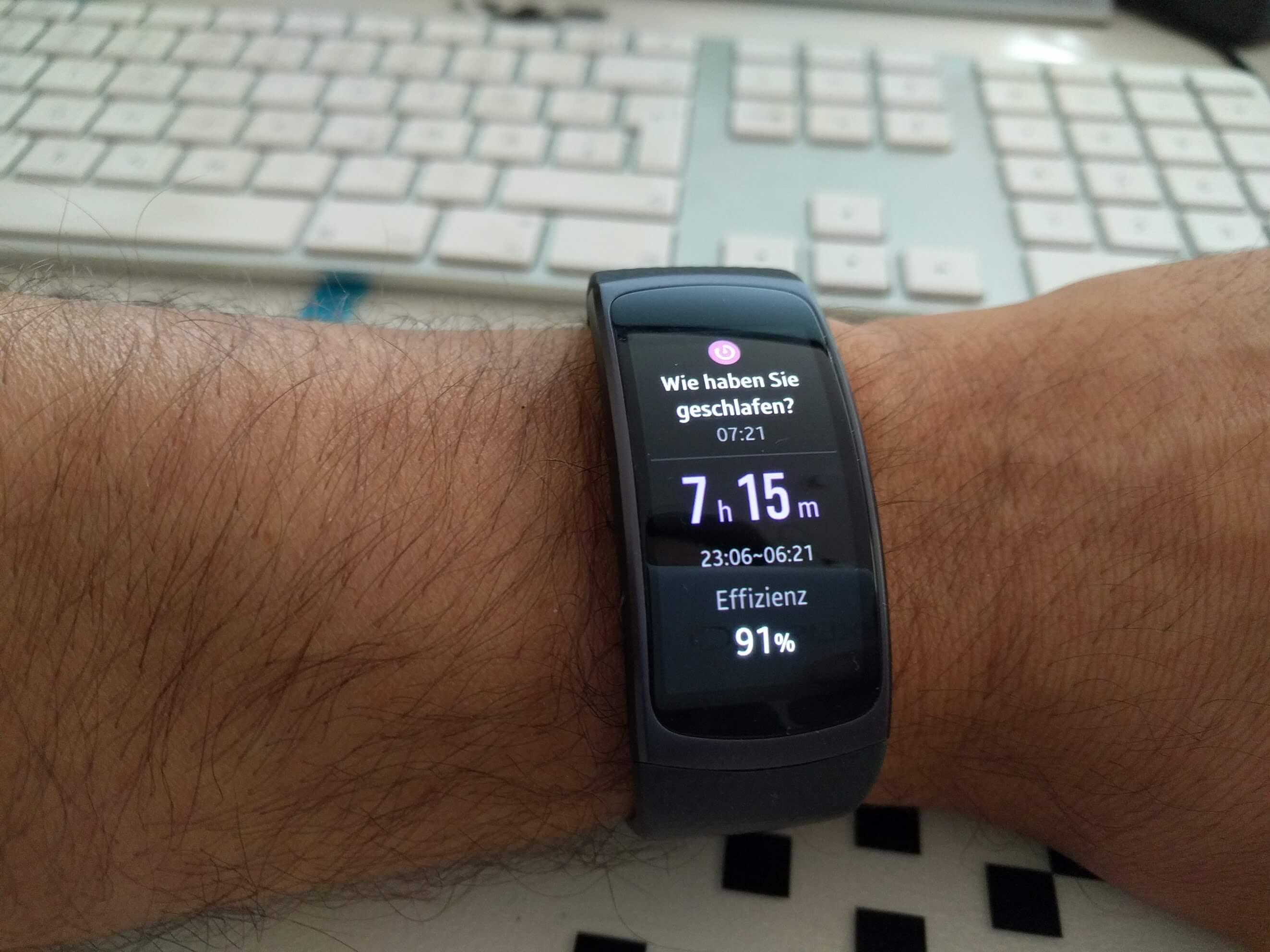 Gear Fit 2 Schlaftracking