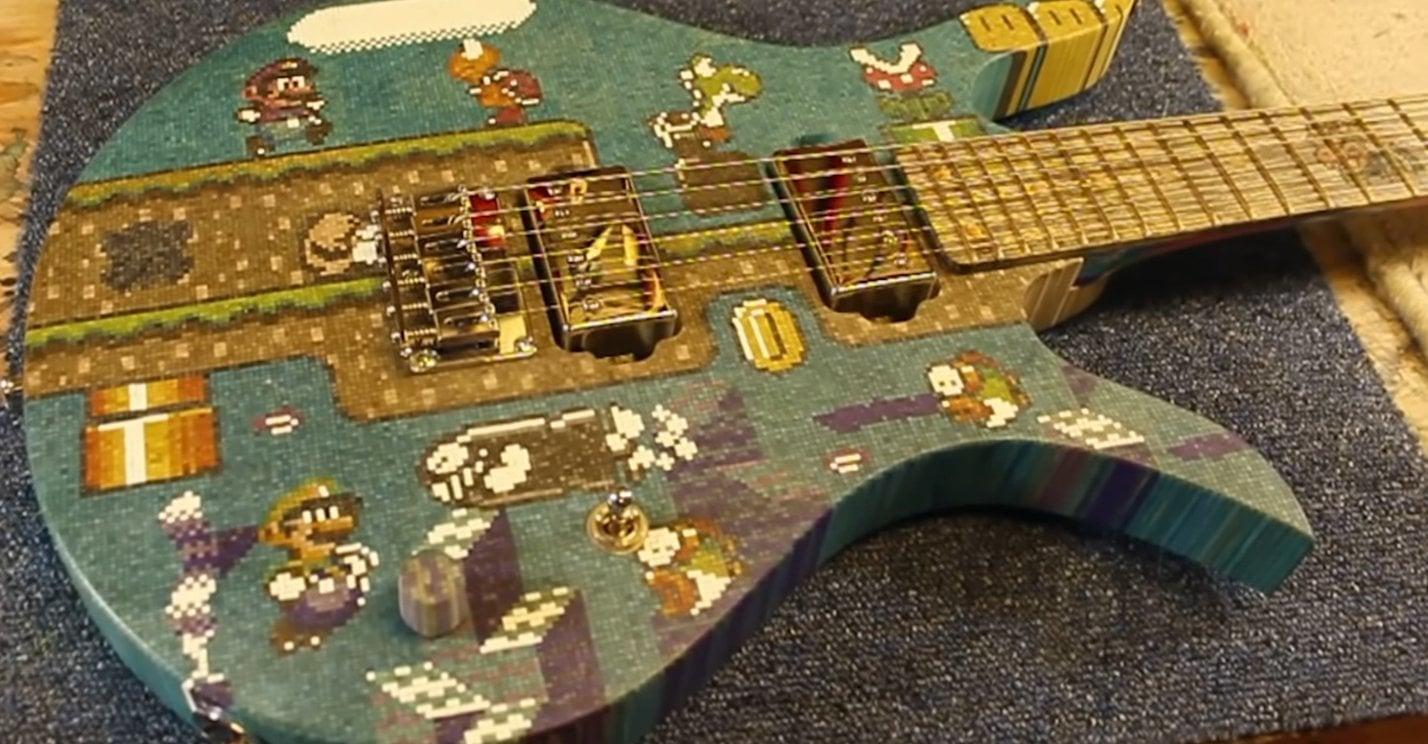 Super Mario Gitarre aus Eis-Stielen