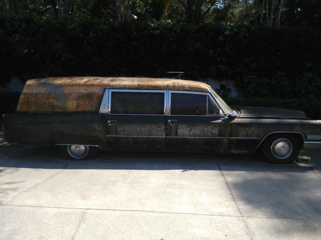 converted to limousine 1967 Cadillac Fleetwood M&M Hearse