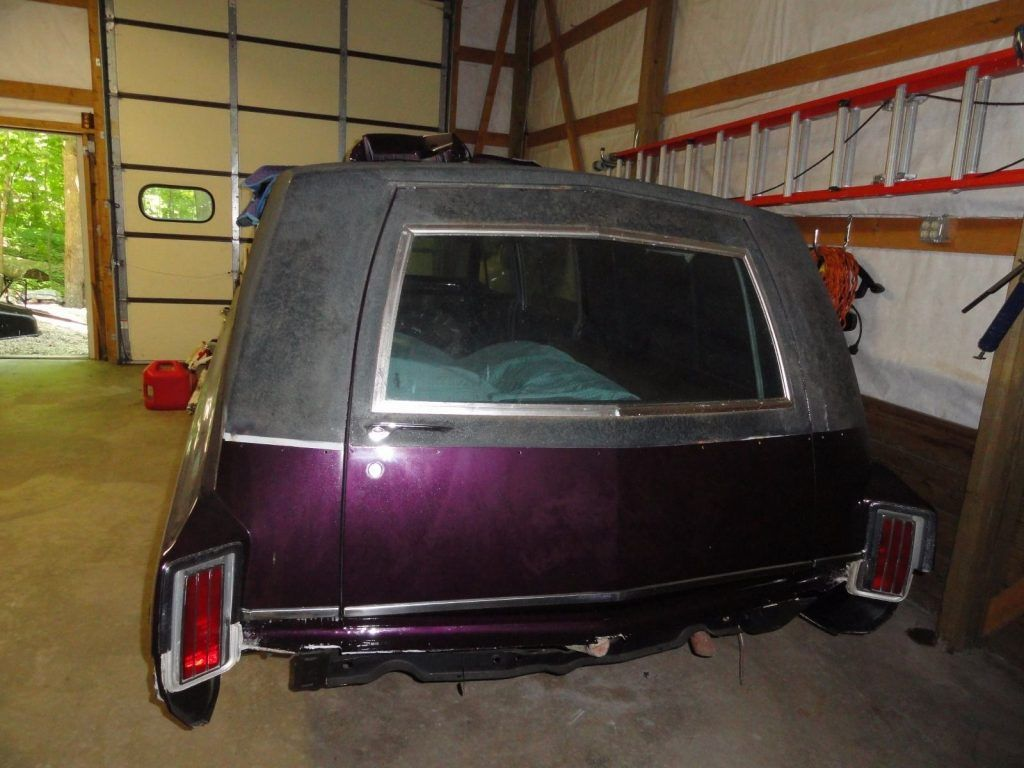 restoration in progress 1965 Oldsmobile Cotner-Bevington Hearse